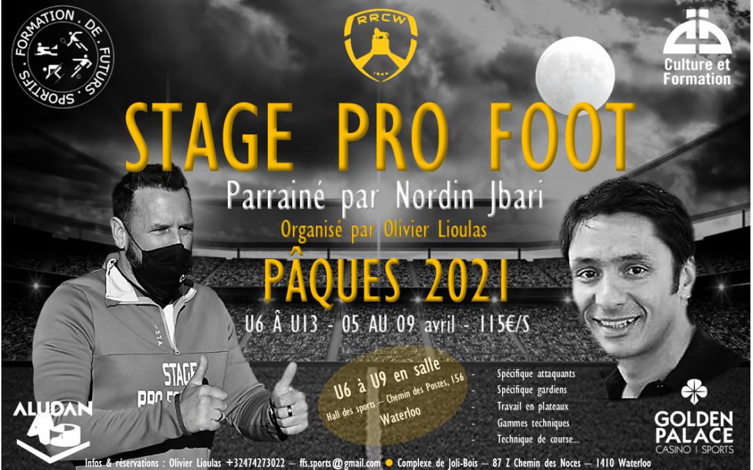 Stage de Pâques sur 2 sites & parrainé par Nordin Jbari !
